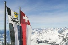 Flags at Corvatsch