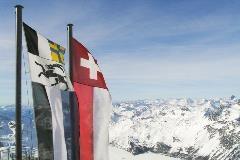 Flags at Corvatsch