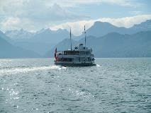 Boat on Lake Lucerne