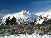 Val Bregaglia gezien vanaf Maloja