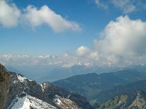 View towards Bernese Alps from Pilatus