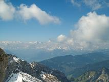 View towards Bernese Alps from Pilatus