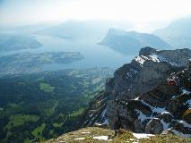 View on Lake Lucerne from Pilatus