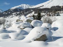 Sneeuw bij Zuoz