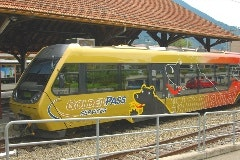 Golden Pass train in Zweisimmen