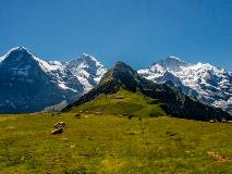 Eiger, Mönch and Jungfrau from Männlichen