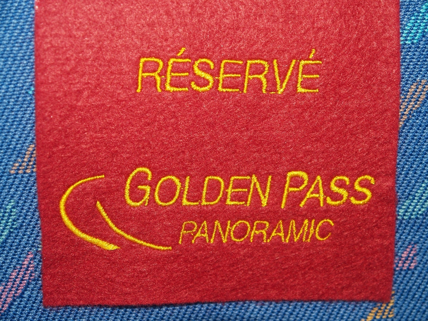 Seat reservations in the Golden Pass