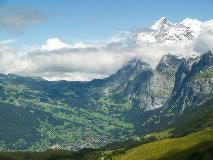 Grindelwald at the foot of the Wetterhorn