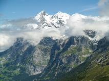 De Wetterhorn ten zuiden van Grindelwald
