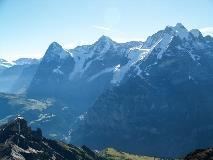 Eiger, Mönch en Jungfrau vanaf Schilthorn