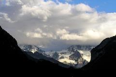 Avondschemering bij Mönch en Jungfrau