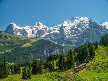 Eiger, Mönch and Jungfrau near Winteregg