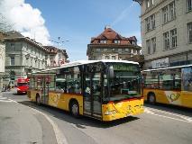 Postbus in Interlaken