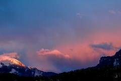 Evening sky in Brienz