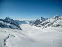 Zicht op de Aletschgletsjer vanaf het Jungfraujoch