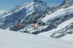 Helikopter op het Jungfraujoch