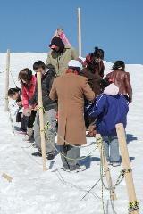 Toeristen op Jungfraujoch