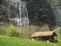 Waterfall in the Lauterbrunnen valley