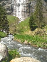 The Mürrenbach fall near Stechelberg