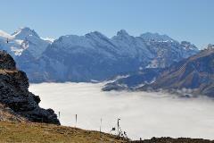 Männlichen clouds Lauterbrunnen valley