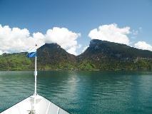 Boot op de Thunersee