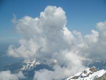 Wolken op Titlis
