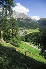 View on La Punt from Albula pass