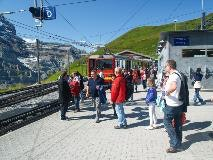 Rail station of Kleine Scheidegg