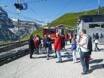 Rail station of Kleine Scheidegg