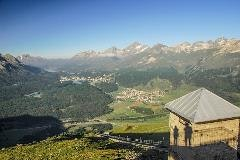 Upper Engadine seen from Muottas Muragl