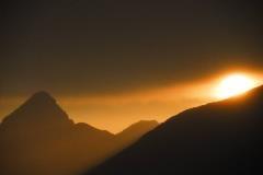 Zonsondergang bij Piz Quattervals
