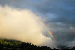 Regenboog boven Wilderswil