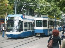 Trams in Zurich