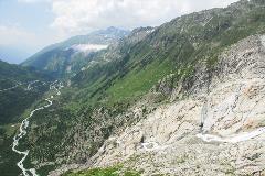 Zicht op het Rhônedal