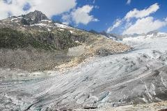 The Rhone glacier