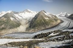 Aletsch glacier seen from Eggishorn