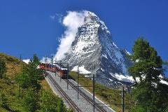The Gornergrat railway and the Matterhorn