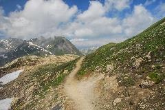 Hiking path at the Nufenen pass