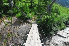Hiker's bridge at the Nufenen pass