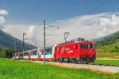 Glacier Express bij Oberwald