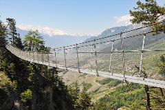 Suspension bridge along the Bisse the Savièse route