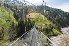 Suspension bridge near Frutigen