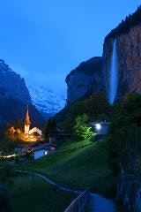 Lauterbrunnen by night