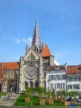 Voorkant kathedraal Lausanne