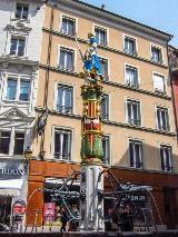 Lausanne Place de la Palud fountain