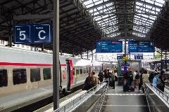 Lausanne station TGV Lyria