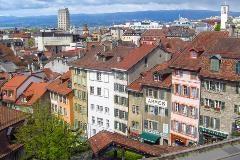 Uitzicht Lausanne met Jura