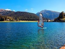 Lake Davos windsurfer
