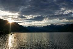 Zonsopkomst aan het Lago Maggiore