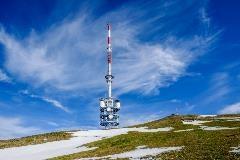 Transmission tower at Rigi Kulm